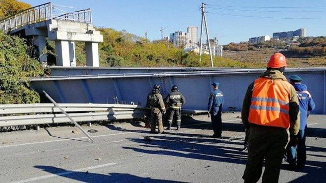 Во Владивостоке обрушился виадук