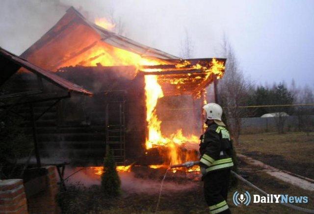 Мать с сыном погибли во время пожара в доме в Волгоградской области