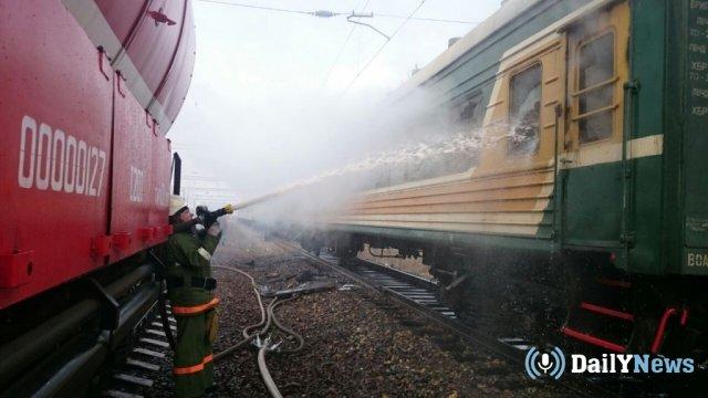 На железнодорожной станции в Биробиджане произошел пожар