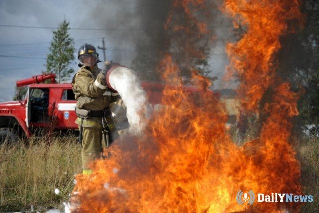 Крупный пожар зафиксирован в Астраханской области