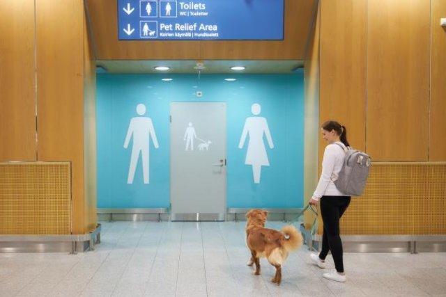 В аэропорту финской столицы появились туалеты для животных