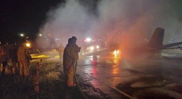 Авария произошла при взлёте самолёта на Филлипинах