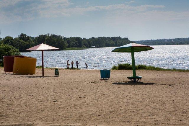 В Липецке проводится благоустройство центрального пляжа