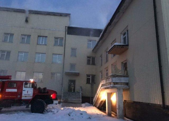 Пожар произошёл в одной из школ Якутии