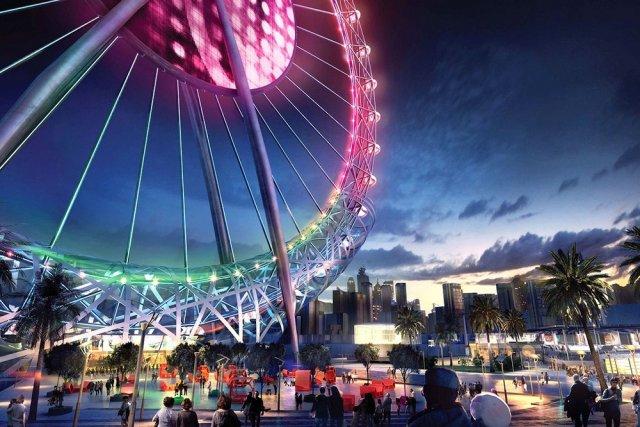 Открытие самого большого колеса обозрения состоялось в Дубае